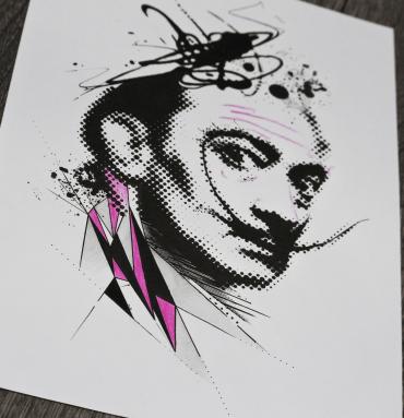 Abstract Dali's portrait